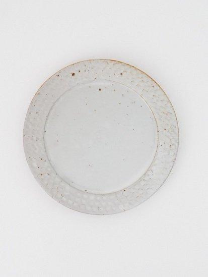 [ 伊藤豊 ]ブロック7.5寸プレート 粉引