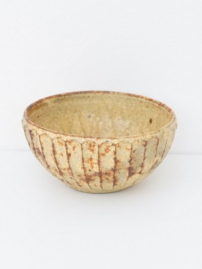 [ 田鶴濱守人 ]枯黄釉6寸面取り鉢