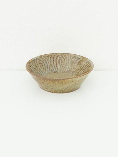 [ 伊藤 豊 ]花紋5寸切立ボウル もえぎ