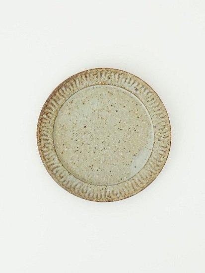 [ 伊藤 豊 ]花紋6.5寸プレート もえぎ