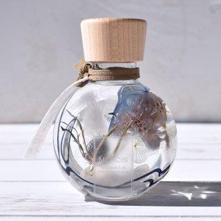【パワーストーン+ハーバリウム】『YURAGI -ゆらぎ-』エリンジウム・ムーンストーンボトル