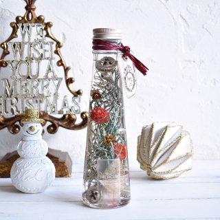 【クリスマス限定ハーバリウム】グローブアマランスのクリスマスツリーボトル