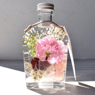 MiLLE MERCiS×櫻花屋之箱*母の日コラボ【限定ハーバリウム】『BLOOMING GARDENカーネーション・ピンク』