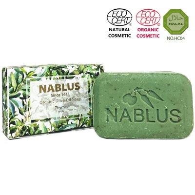 【ナーブルスソープ NABLUS SOAP 】 タイム Thyme(体臭・加齢臭・角栓ケア)100g 完全無添加 オーガニック石鹸 洗顔&ボディー石鹸