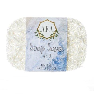 【アイラ AIRA】ナチュラルソープディッシュ トウモロコシと大豆由来の石鹸置き(ホワイト)