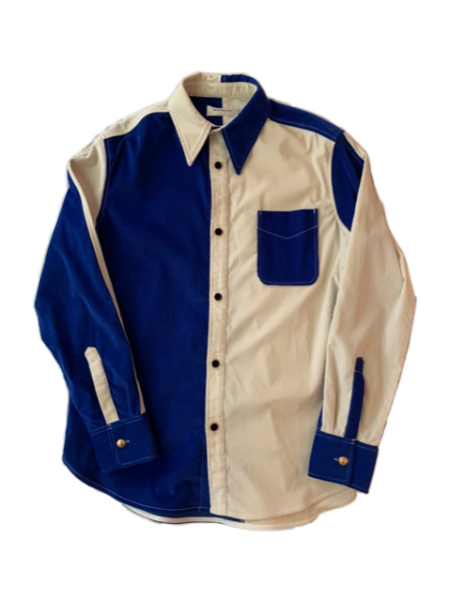<img class='new_mark_img1' src='https://img.shop-pro.jp/img/new/icons23.gif' style='border:none;display:inline;margin:0px;padding:0px;width:auto;' />MONTEGO COLOUR BLOCK SHIRT