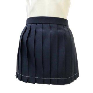 紺プリーツスカート