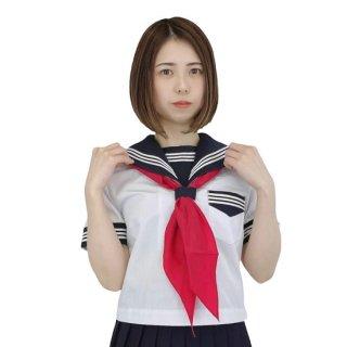 春夏 半袖 セーラー服 白×濃紺