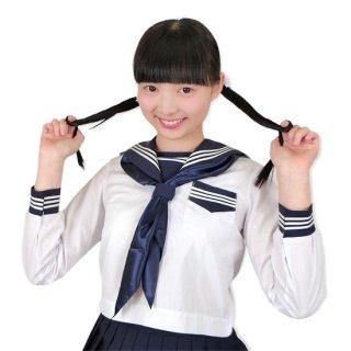 春夏 長袖 セーラー服 白×濃紺