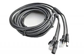 [防犯カメラ用] LAN&電源延長ケーブル 1本組み合わせ 5m