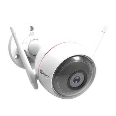EZVIZ C3W / C3W Pro  2MP / 4MP 265万画素 / 400万画素 1080p 発光LED搭載 防水防塵 ワイヤレス Wi-Fi対応 監視カメラ アレクサ対応