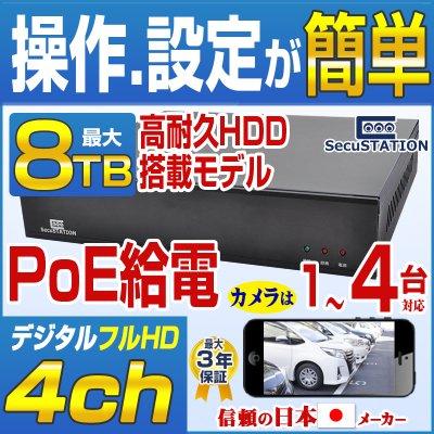 SC-Z714 PoEカメラ(1〜4台)専用★最高級★録画装置 NVR HDDなし