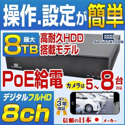 SC-XZ84 PoEカメラ(1〜8台)専用★最高級★録画装置 NVR HDDなし