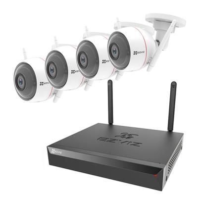 EZVIZ X5S-4ch & C3WN / C3W / C3W Pro Wi-Fi録画装置+屋外カメラ 1~4台セット