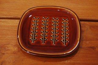 ブラウン小枝パン皿(美濃焼)