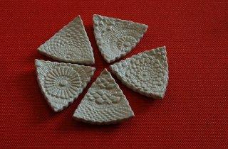 レース箸置5個セット(京焼)