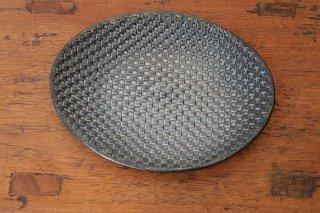 モザイク楕円皿(信楽焼)