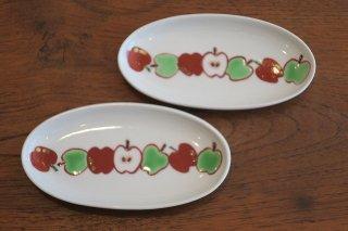 りんご楕円小皿