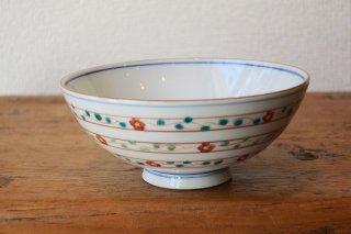 花帯紋飯碗(九谷焼)