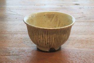 薪焼粉引しのぎ飯碗(鈴木智尋・京都)