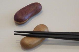 木製まめ箸置(薄茶)