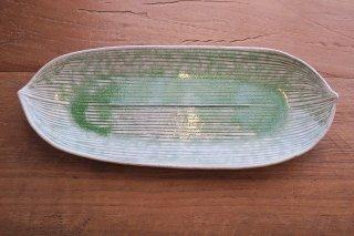 笹の葉長皿