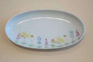 花の小路楕円小皿