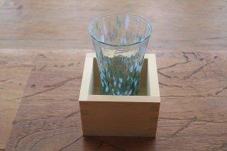 津軽びいどろ・升付き酒グラス・緑(特別価格)
