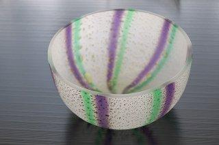 金彩十草丸鉢