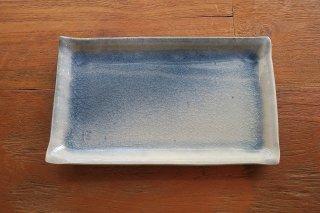 藍吹き長皿