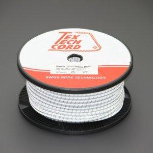 110429<br>TexTech ショックコード 8mm 白色 100M巻