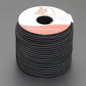 110460<br>TexTech ショックコード 3mm 黒色 50M巻