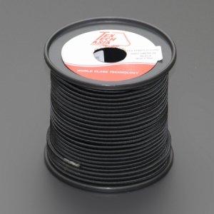 110461<br>TexTech ショックコード 4mm 黒色 50M巻