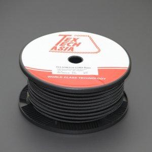 110464<br>TexTech ショックコード 8mm 黒色 50M巻