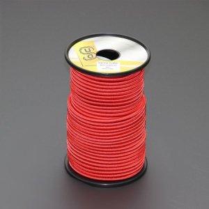 110480<br>TexTech ショックコード 6mm 赤色 50m巻
