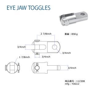 112308<br>Hayn トグル 19.05mm(Fork&Eye)<br>(TOG12)