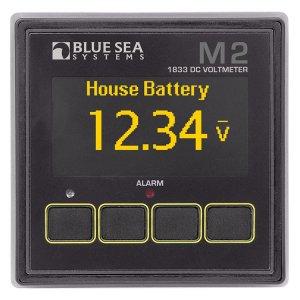 225223<br>BlueSea M2 OLED DC Vメーター<br>(1833)