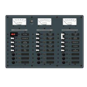 227490<br>BlueSea スイッチパネル 8 x 120VAC+16 x 12VDC w/main<br>(8084)