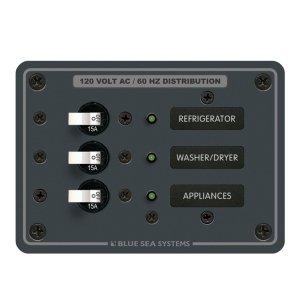 227499<br>BlueSea スイッチパネル120VAC 3 Circuit Breaker<br>(8058)