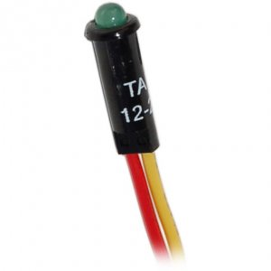 227506<br>BlueSea LED 表示ライト Green for 12/24V DC パネル<br>(8172)