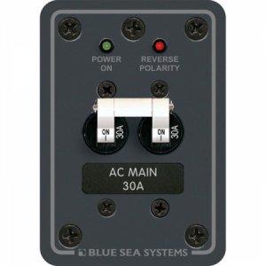 227530<br>BlueSea AC メインスイッチ 30Amp ダブルポール <br>(8077)
