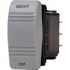 227639<br>BlueSea 防水ロッカースイッチ SPDT (ON)OFF(ON)BRIGHT-DIM<br>(8216)