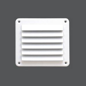317282<br>ABS FLUSHルバーベント 140 x 125mm 白色<br>(KH27405W)