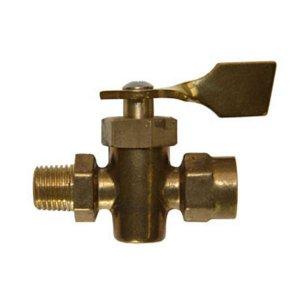 318288<br>ストップ バルブ1/4F NPT F &   Male (Brass )<br>(142072)