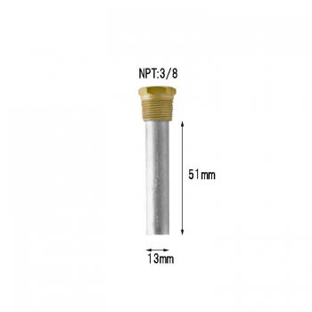 "320867<br>Zinc &   Plug  ペンシル  (3/8NPT x 1/2"" x 2)<br>(CME1)"