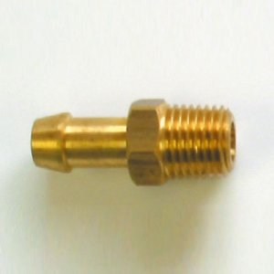 400043<br>ホース口 BARB-PH 1/4NPT x 1/4M-BR (Brass )