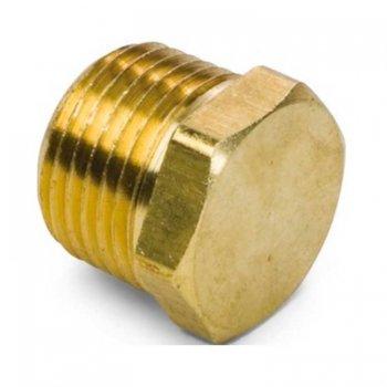 400046<br>6角頭ブラスプラグ1/4NPT(1個) (Brass )<br>(153104-01)