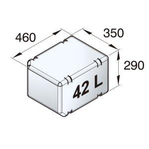 601091<br>Vetus 高密度ポリエチレン多目的タンク 42 L<br>(ATANK042)