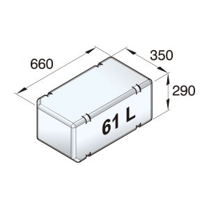 601092<br>Vetus 高密度ポリエチレン多目的タンク 61 L<br>(ATANK061)