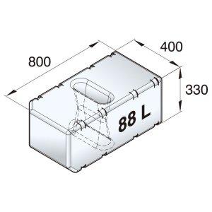 601093<br>Vetus 高密度ポリエチレン多目的タンク 88 L<br>(ATANK088)